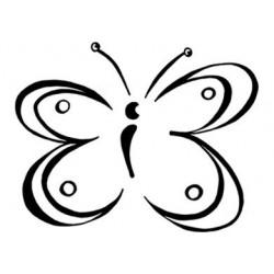 Tampon bois - Papillon en...