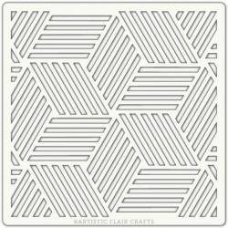 Pochoir - Cubes, 15,2 x...