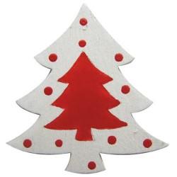 Noël - 6 Sapins en bois,...