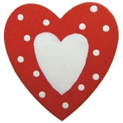 Embellissements - 6 cœurs...